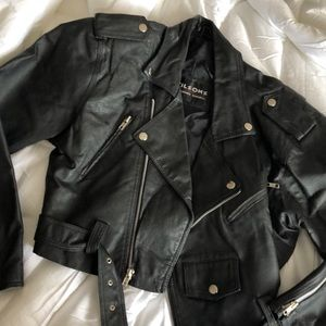 Wilsons leather cropped jacket